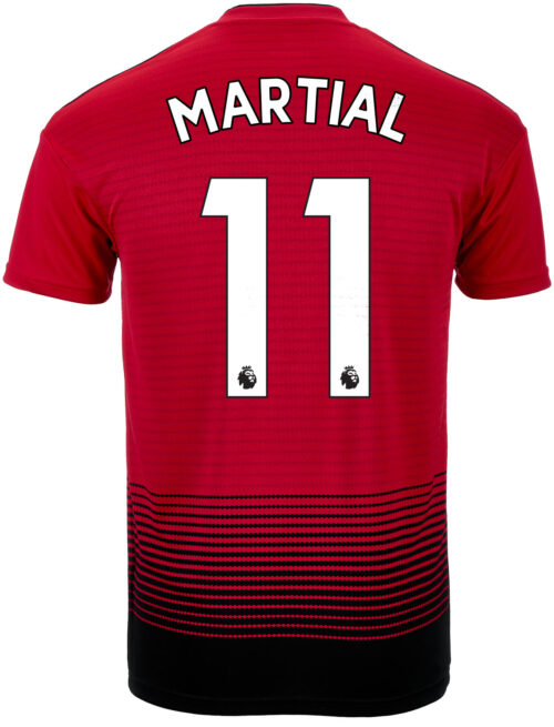 2018/19 adidas Anthony Martial Manchester United Home Jersey