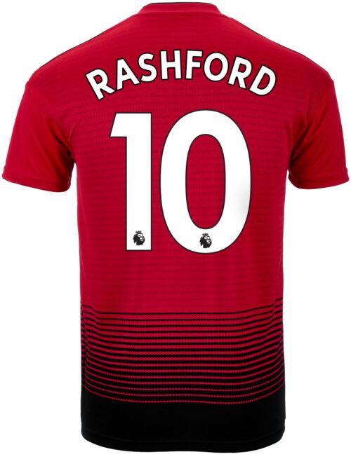 adidas Marcus Rashford Manchester United Home Jersey 2018-19