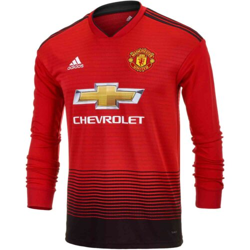 adidas Manchester United Home L/S Jersey – Youth 2018-19