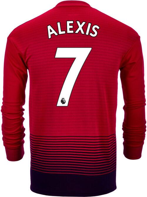 2018/19 adidas Kids Alexis Sanchez Manchester United Home L/S Jersey