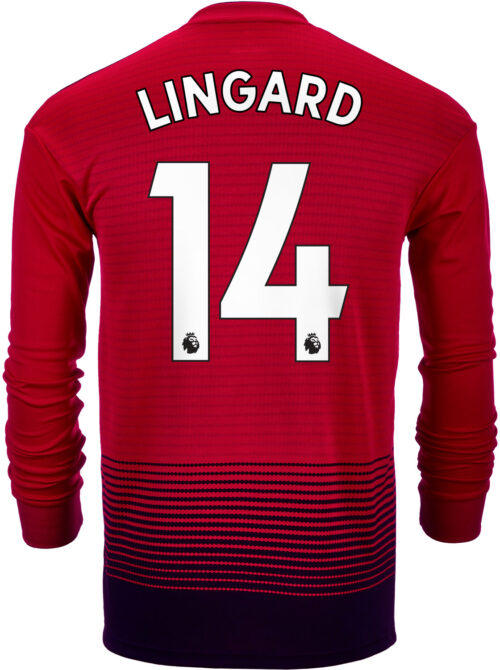 2018/19 adidas Kids Jesse Lingard Manchester United Home L/S Jersey