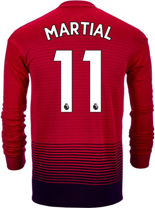 2018/19 adidas Kids Anthony Martial Manchester United Home L/S Jersey