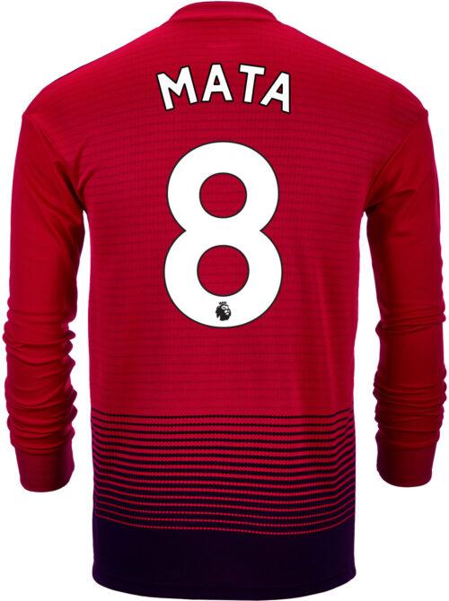 2018/19 adidas Kids Juan Mata Manchester United Home L/S Jersey