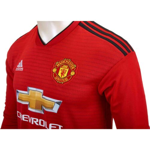 adidas Manchester United Home L/S Jersey 2018-19