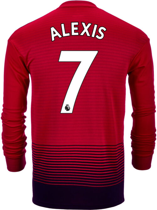 2018/19 adidas Alexis Sanchez Manchester United L/S Home Jersey