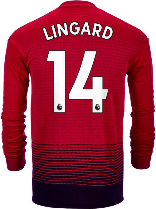 6ce51e7a 2018/19 adidas Jesse Lingard Manchester United L/S Home Jersey