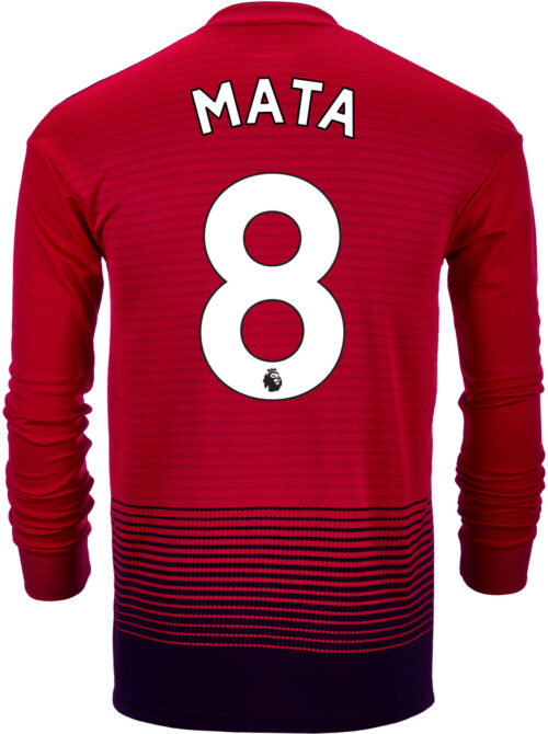 2018/19 adidas Juan Mata Manchester United L/S Home Jersey