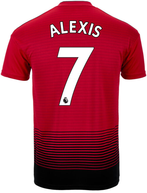 adidas Alexis Sanchez Manchester United Home Jersey – Youth 2018-19