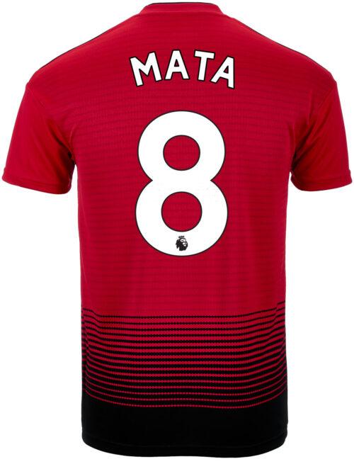 2018/19 adidas Kids Juan Mata Manchester United Home Jersey