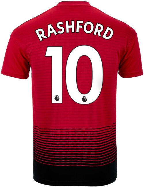 adidas Marcus Rashford Manchester United Home Jersey – Youth 2018-19