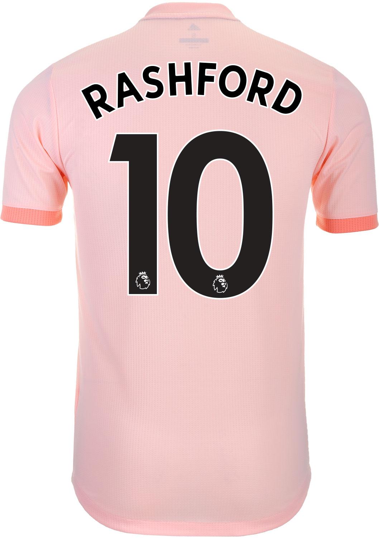 dee6bafa7 2018 19 adidas Marcus Rashford Manchester United Away Authentic Jersey