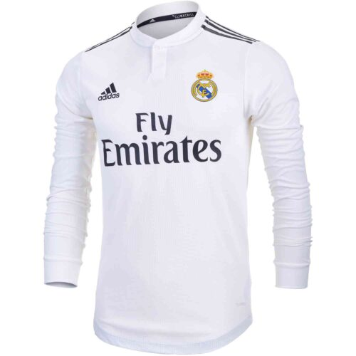 adidas Real Madrid Home L/S Jersey – Youth 2018-19