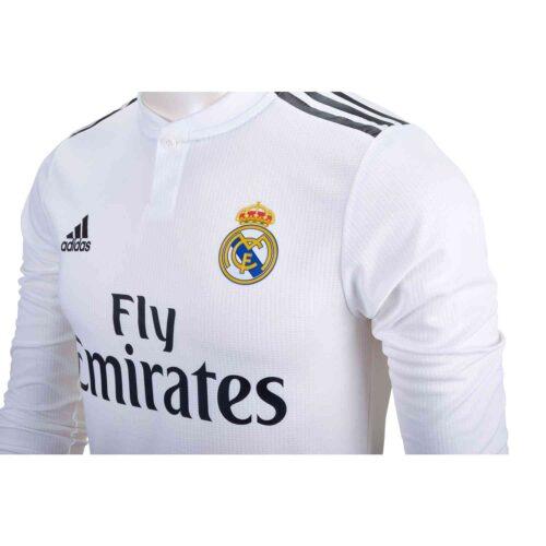 2018/19 adidas Kids Luka Modric Real Madrid L/S Home Jersey