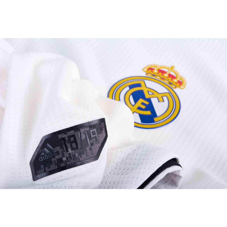 fde06e3a414d9f 2018 19 adidas Kids Marcelo Real Madrid L S Home Jersey - SoccerPro