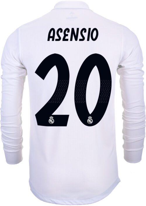 18d41d56cd7 2018 19 adidas Kids Marco Asensio Real Madrid L S Home Jersey