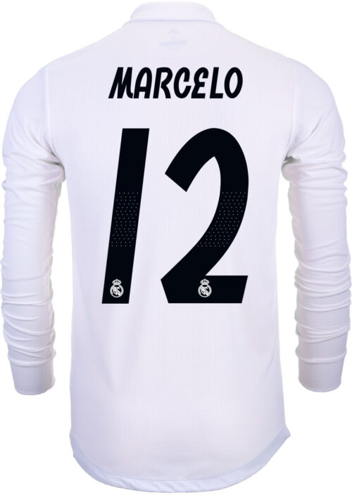 ba9db5464 2018 19 adidas Kids Marcelo Real Madrid L S Home Jersey