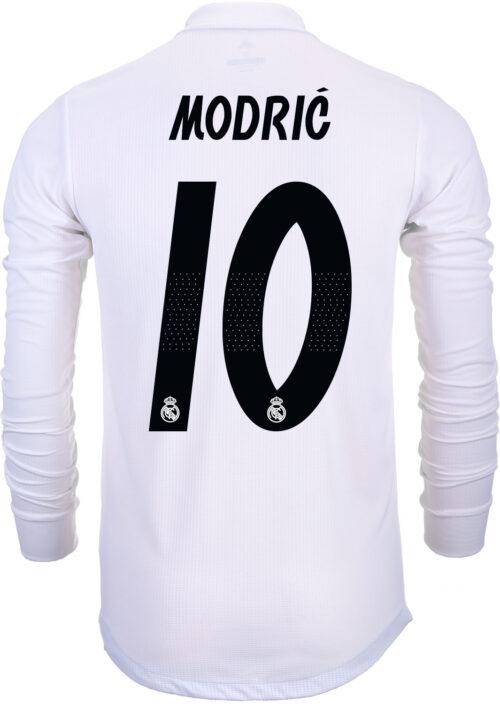 10edaa0f7 2018 19 adidas Kids Luka Modric Real Madrid L S Home Jersey