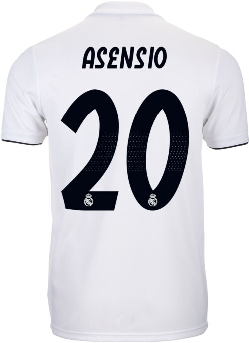 adidas Marco Asensio Real Madrid Home Jersey – Youth 2018-19