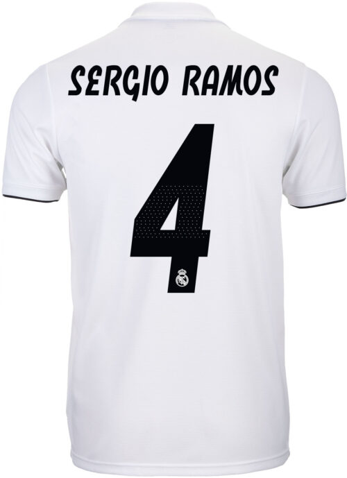 adidas Sergio Ramos Real Madrid Home Jersey – Youth 2018-19