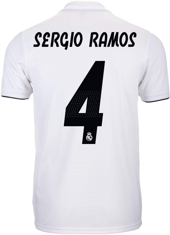d0a35b6eec4 adidas Sergio Ramos Real Madrid Home Jersey - Youth 2018-19 - SoccerPro