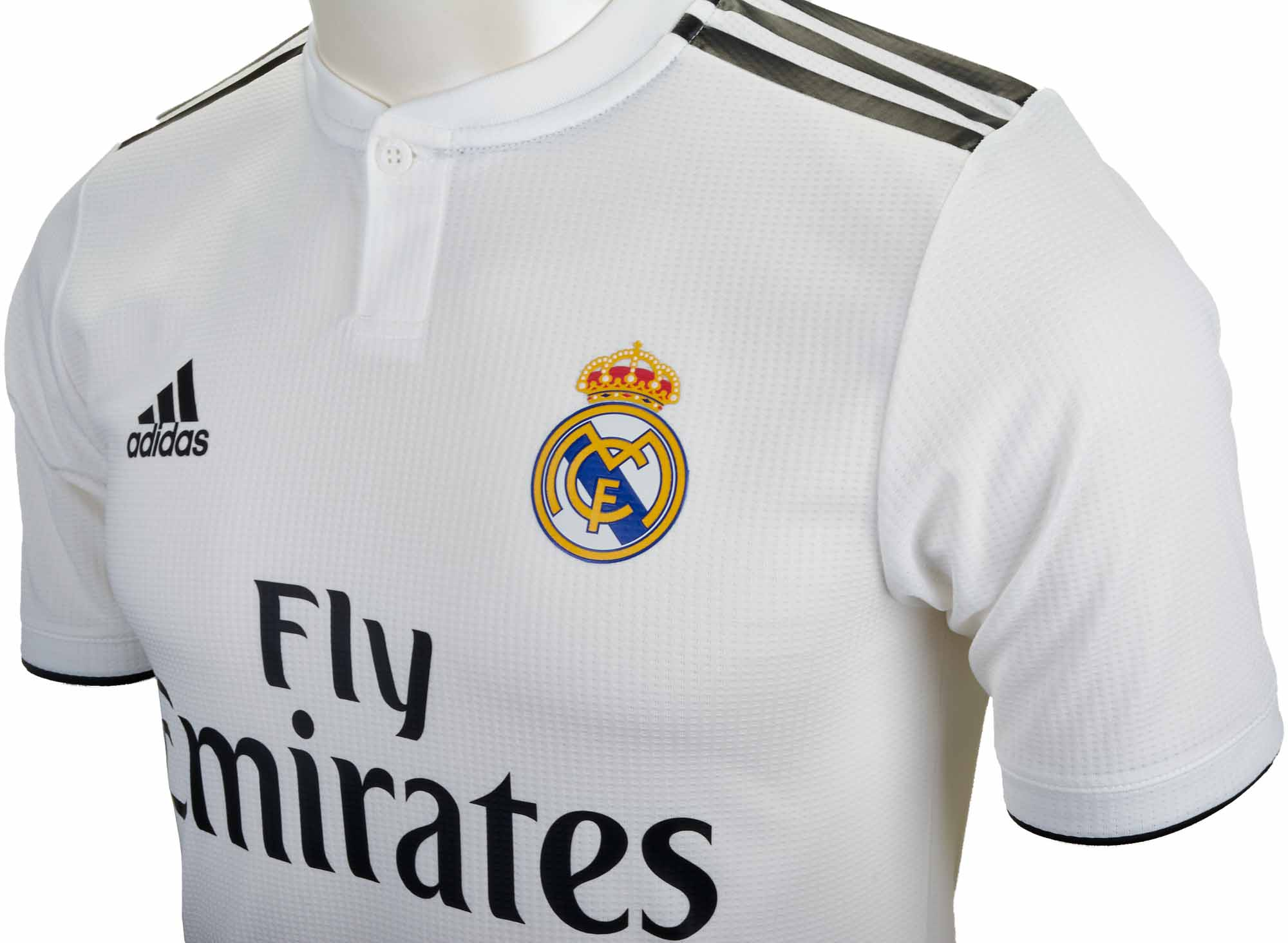 adidas Real Madrid Home Authentic Jersey 2018-19 - SoccerPro b32d5916b