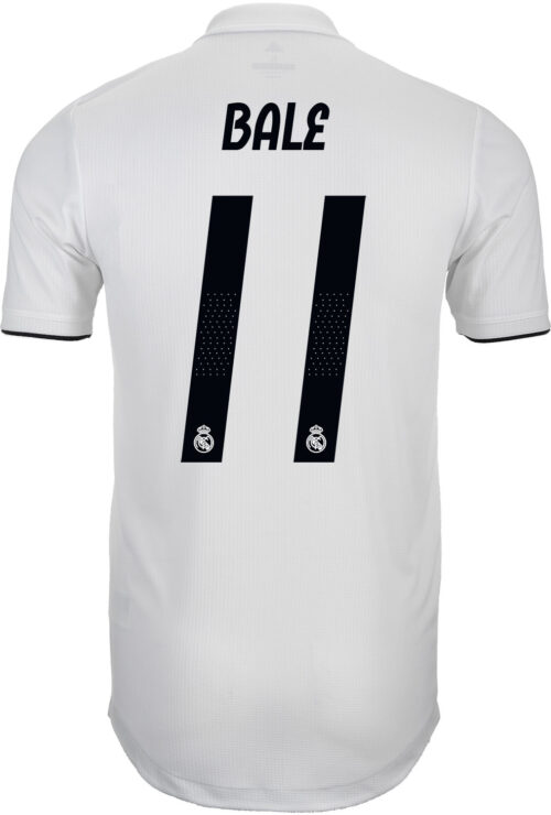 adidas Gareth Bale Real Madrid Home Authentic Jersey 2018-19