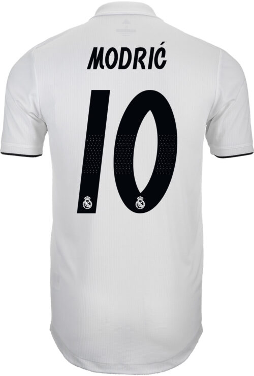 adidas Luka Modric Real Madrid Home Authentic Jersey 2018-19
