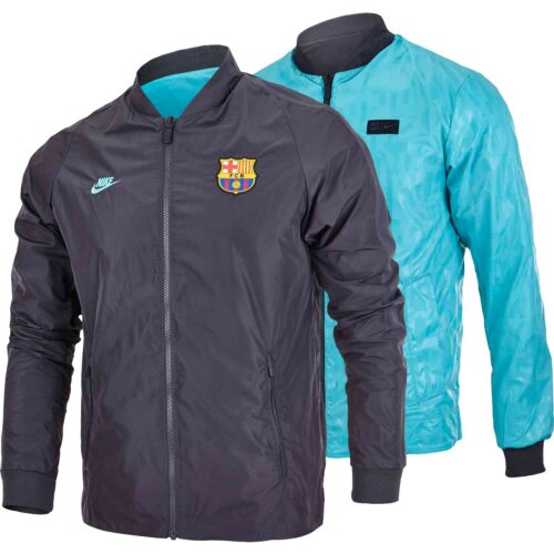 Nike Barcelona Reversible Jacket – Dark Smoke Grey/Cabana/Cabana/Cabana