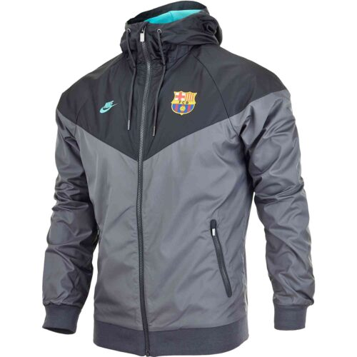 Nike Barcelona Woven Windrunner Jacket – Dark Grey/Dark Smoke Grey/Dark Grey/Cabana