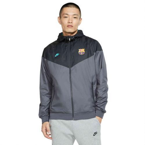 Nike Barcelona Woven Windrunner Jacket – Dark Grey/Dark Smoke Grey/Dark Grey/Cabana