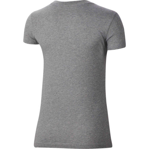 "Womens Nike ""Just Do It"" Slim Fit Tee – Dark Grey Heather"