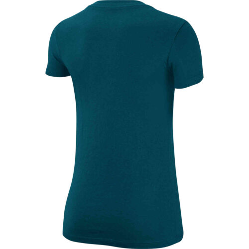 """Womens Nike """"Just Do It"""" Slim Fit Tee – Midnight Turquoise"""