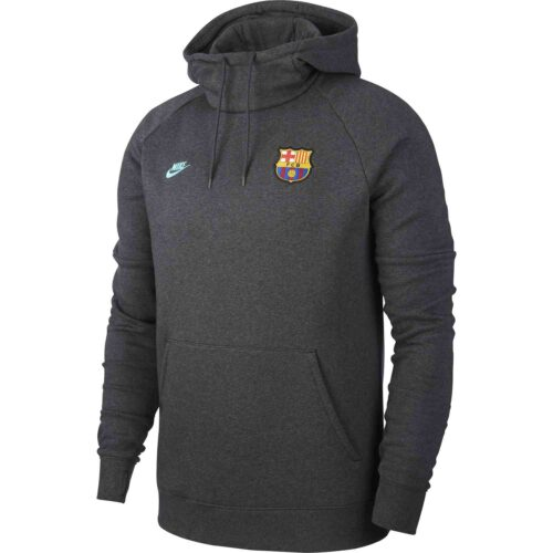 Nike Barcelona Pullover Fleece Hoodie – Anthracite/Dark Grey/Cabana