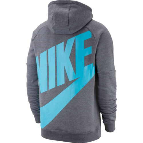 Nike Tottenham Pullover Fleece Hoodie – Flint Grey/Dark Grey/Blue Fury