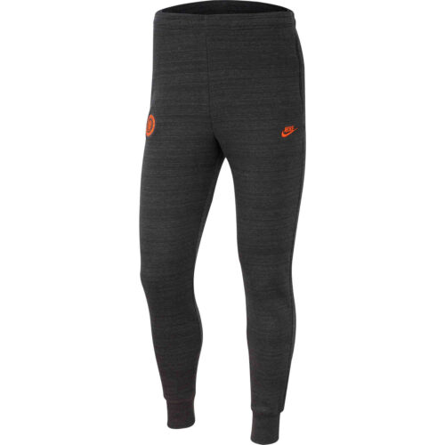 Nike Chelsea Fleece Training Pants – Anthracite/Dark Grey/Rush Orange