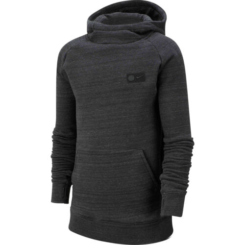 Kids Nike Chelsea Pullover Fleece Hoodie – Anthracite/Dark Grey/Rush Orange
