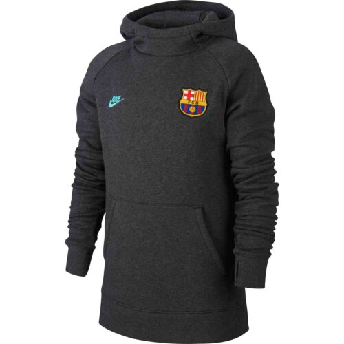 Kids Nike Barcelona Pullover Fleece Hoodie – Anthracite/Dark Grey/Cabana