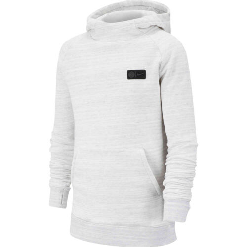 Kids Nike PSG Pullover Fleece Hoodie – White/Wolf Grey/Midnight Navy