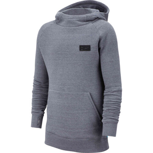 Kids Nike Tottenham Pullover Fleece Hoodie – Flint Grey/Dark Grey/Blue Fury