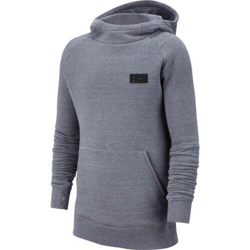 Kids Nike Tottenham Pullover Fleece Hoodie – Flint Grey/Dark Grey/Blue Fury