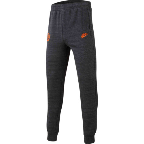 Kids Nike Chelsea Fleece Training Pants – Anthracite/Dark Grey/Rush Orange