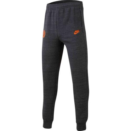 Kids Nike Chelsea Fleece Training Pants – Anthracite/Dark Grey/Rush Orange
