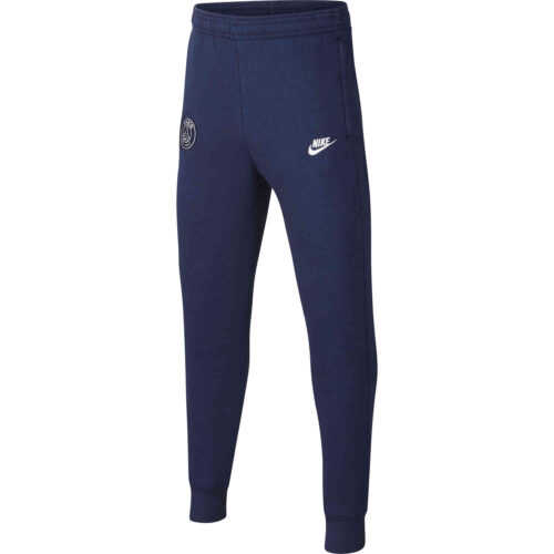 Kids Nike PSG Fleece Training Pants – Midnight Navy/White