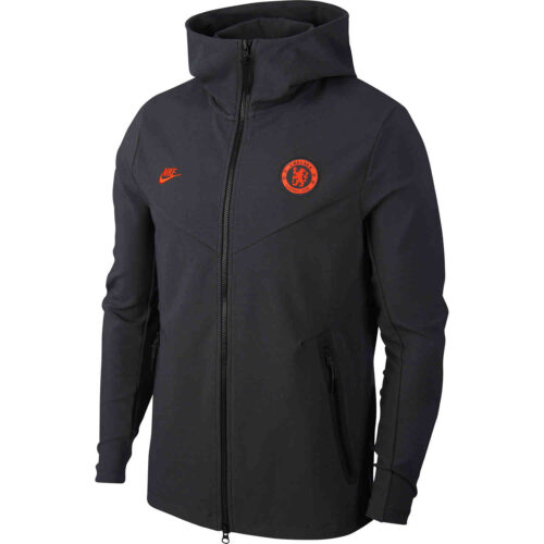 Nike Chelsea Tech Pack Full-zip Hoodie – Anthracite/Rush Orange