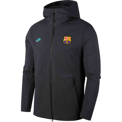 Nike Barcelona Tech Pack Full-zip Hoodie – Dark Smoke Grey/Dark Smoke Grey/Cabana