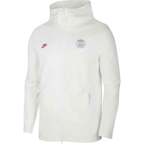 Nike PSG Tech Pack Full-zip Hoodie – White/University Red