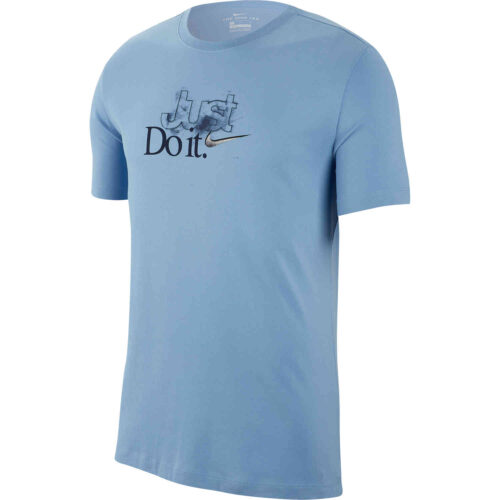 "Nike ""Just Do It"" Dri-Fit Cotton Tee – Light Blue"