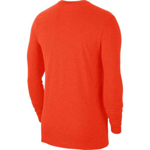 Nike Dri-Fit Cotton L/S Swoosh Tee – Team Orange