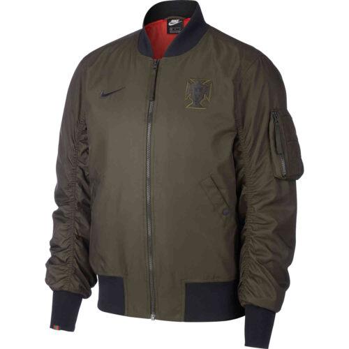 Nike Portugal Woven AF1 Jacket – Sequoia & Sport Red