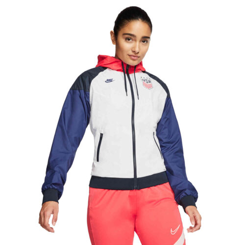 Womens Nike USA OG Windrunner Jacket – White/Dark Obsidian/Loyal Blue